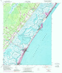 Download a high-resolution, GPS-compatible USGS topo map for Sea Isle City, NJ (1989 edition)