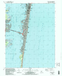 Download a high-resolution, GPS-compatible USGS topo map for Seaside Park, NJ (1989 edition)