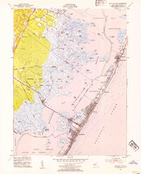 Download a high-resolution, GPS-compatible USGS topo map for Ship Bottom, NJ (1954 edition)