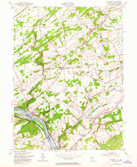 Download a high-resolution, GPS-compatible USGS topo map for Stockton, NJ (1964 edition)