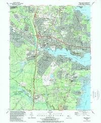 Download a high-resolution, GPS-compatible USGS topo map for Toms River, NJ (1989 edition)