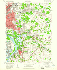 Download a high-resolution, GPS-compatible USGS topo map for Trenton East, NJ (1960 edition)