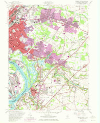Download a high-resolution, GPS-compatible USGS topo map for Trenton East, NJ (1972 edition)
