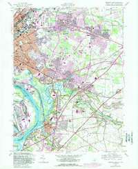 Download a high-resolution, GPS-compatible USGS topo map for Trenton East, NJ (1989 edition)