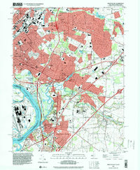 Download a high-resolution, GPS-compatible USGS topo map for Trenton East, NJ (2000 edition)