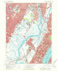 Download a high-resolution, GPS-compatible USGS topo map for Weehawken, NJ (1968 edition)