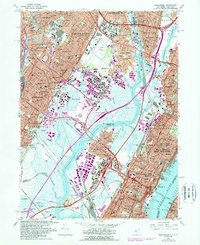 Download a high-resolution, GPS-compatible USGS topo map for Weehawken, NJ (1989 edition)