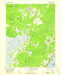 Download a high-resolution, GPS-compatible USGS topo map for Woodbine, NJ (1959 edition)