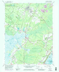 Download a high-resolution, GPS-compatible USGS topo map for Woodbine, NJ (1986 edition)