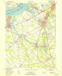 Download a high-resolution, GPS-compatible USGS topo map for Woodbury, NJ (1951 edition)