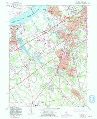 Download a high-resolution, GPS-compatible USGS topo map for Woodbury, NJ (1991 edition)