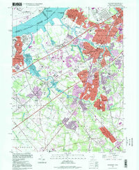 Download a high-resolution, GPS-compatible USGS topo map for Woodbury, NJ (1999 edition)