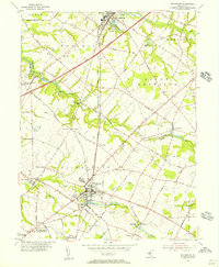 Download a high-resolution, GPS-compatible USGS topo map for Woodstown, NJ (1956 edition)