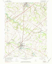 Download a high-resolution, GPS-compatible USGS topo map for Woodstown, NJ (1984 edition)