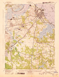 Download a high-resolution, GPS-compatible USGS topo map for South Amboy, NJ (1943 edition)