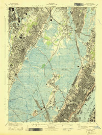 Download a high-resolution, GPS-compatible USGS topo map for Weehawken, NJ (1943 edition)