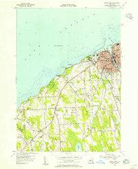 USGS 1:24000-scale Quadrangle for Oswego West, NY 1954