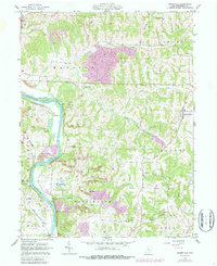 Download a high-resolution, GPS-compatible USGS topo map for Adamsville, OH (1987 edition)