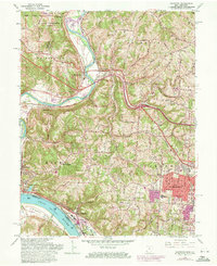 Download a high-resolution, GPS-compatible USGS topo map for Addyston, OH (1971 edition)
