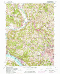 Download a high-resolution, GPS-compatible USGS topo map for Addyston, OH (1978 edition)