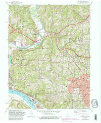 Download a high-resolution, GPS-compatible USGS topo map for Addyston, OH (1987 edition)