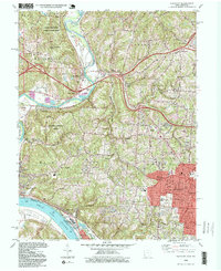 Download a high-resolution, GPS-compatible USGS topo map for Addyston, OH (1999 edition)