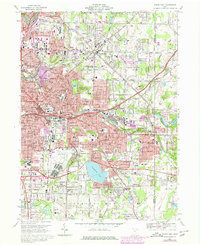 Download a high-resolution, GPS-compatible USGS topo map for Akron East, OH (1980 edition)