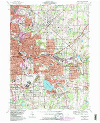 Download a high-resolution, GPS-compatible USGS topo map for Akron East, OH (1984 edition)