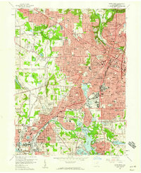Download a high-resolution, GPS-compatible USGS topo map for Akron West, OH (1959 edition)