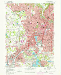 Download a high-resolution, GPS-compatible USGS topo map for Akron West, OH (1978 edition)