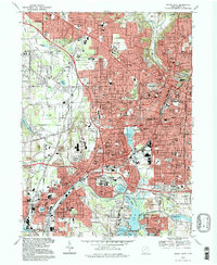 Download a high-resolution, GPS-compatible USGS topo map for Akron West, OH (1997 edition)