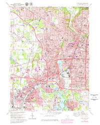 Download a high-resolution, GPS-compatible USGS topo map for Akron West, OH (1980 edition)
