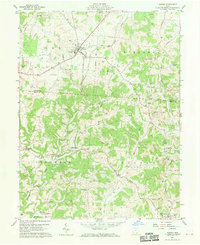 Download a high-resolution, GPS-compatible USGS topo map for Albany, OH (1970 edition)