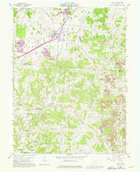 Download a high-resolution, GPS-compatible USGS topo map for Albany, OH (1976 edition)