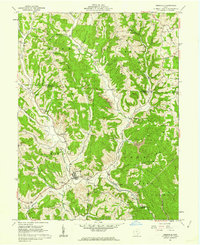 Download a high-resolution, GPS-compatible USGS topo map for Amesville, OH (1962 edition)