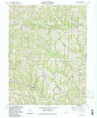Download a high-resolution, GPS-compatible USGS topo map for Antioch, OH (1998 edition)