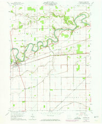 Download a high-resolution, GPS-compatible USGS topo map for Antwerp, OH (1974 edition)