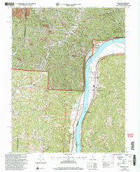 Download a high-resolution, GPS-compatible USGS topo map for Athalia, OH (2006 edition)