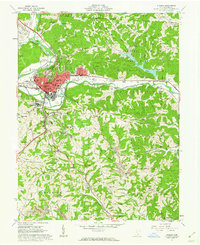 Download a high-resolution, GPS-compatible USGS topo map for Athens, OH (1962 edition)