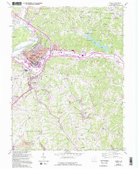 Download a high-resolution, GPS-compatible USGS topo map for Athens, OH (1995 edition)