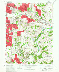 Download a high-resolution, GPS-compatible USGS topo map for Bellbrook, OH (1967 edition)