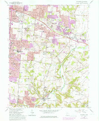 Download a high-resolution, GPS-compatible USGS topo map for Bellbrook, OH (1976 edition)