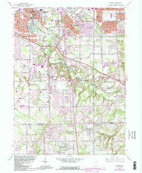 Download a high-resolution, GPS-compatible USGS topo map for Berea, OH (1984 edition)