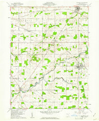Download a high-resolution, GPS-compatible USGS topo map for Bloomville, OH (1961 edition)