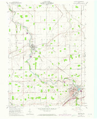 Download a high-resolution, GPS-compatible USGS topo map for Bluffton, OH (1973 edition)