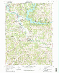 Download a high-resolution, GPS-compatible USGS topo map for Bowerston, OH (1974 edition)