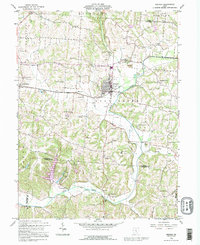 Download a high-resolution, GPS-compatible USGS topo map for Bremen, OH (1995 edition)