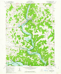 Download a high-resolution, GPS-compatible USGS topo map for Brinkhaven, OH (1963 edition)