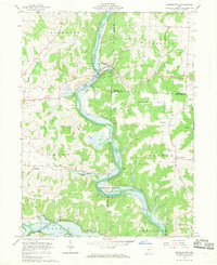 Download a high-resolution, GPS-compatible USGS topo map for Brinkhaven, OH (1970 edition)