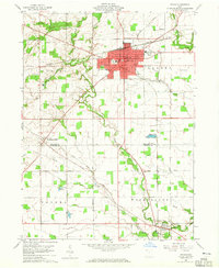 Download a high-resolution, GPS-compatible USGS topo map for Bryan, OH (1965 edition)